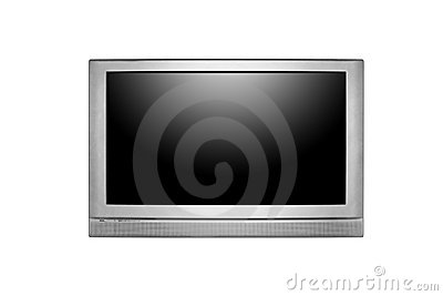 Huge LCD or Plasma TV Hanging on a Wall
