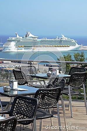 Huge luxury cruise ship