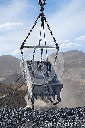 Huge metal bucket
