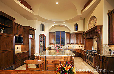 Huge New Mansion Home Kitchen