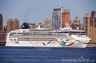 Huge Ocean Linear Norwegian Dawn Editorial Image