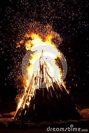 Huge Outdoor Bonfire