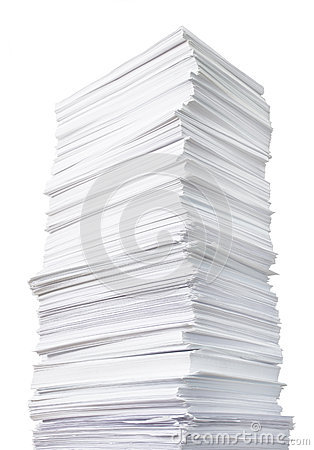 Free Huge Paper Stack Royalty Free Stock Images - 43386219