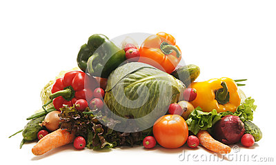 A huge pile of fresh and tasty green vegetables