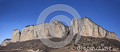 Huge rocky mountain