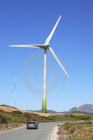 Huge Sail Of Wind Farm Generator In Spain Royalty Free Stock Photo - Image: 678875