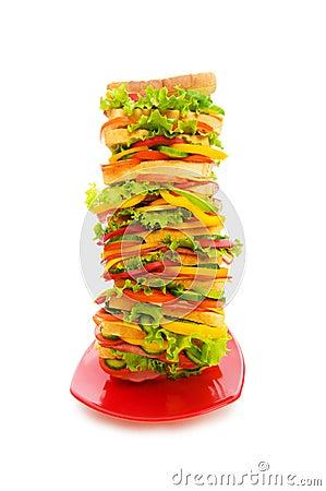 Huge sandwich isolated