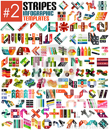 Free Huge Set Of Stripe Infographic Templates 2 Royalty Free Stock Photography - 37140577