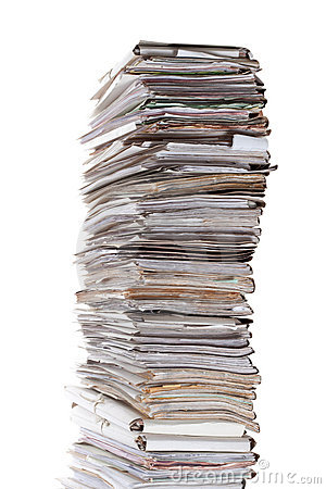 Free Huge Stack Of Papers Stock Image - 20803441