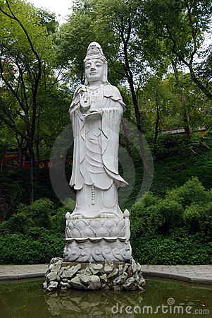 A huge statue of Guanyin