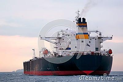 Huge tanker ship