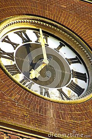 Huge tower clock