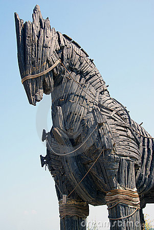 Huge trojan horse detail