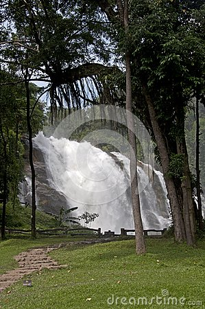 Huge waterfall park
