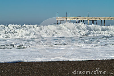 Huge waves on the California Coast