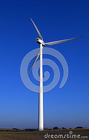 Free Huge Wind-turbine On Blue. Royalty Free Stock Photography - 1561517