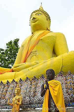Huge Yellow Buddha Statue Stock Photography - Image: 14725352