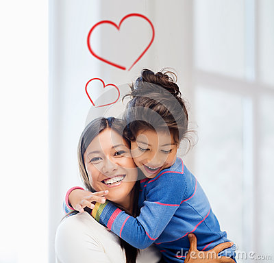 Free Hugging Mother And Daughter Stock Photo - 37206450