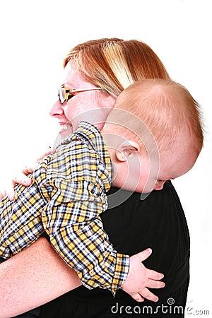 Hugging my mommy