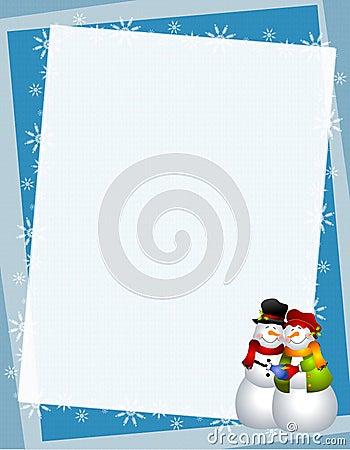 Hugging Snowman Paper