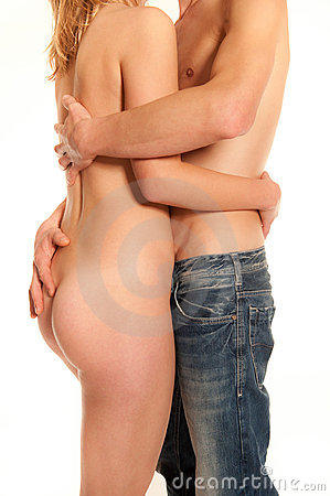 Hugging young couple