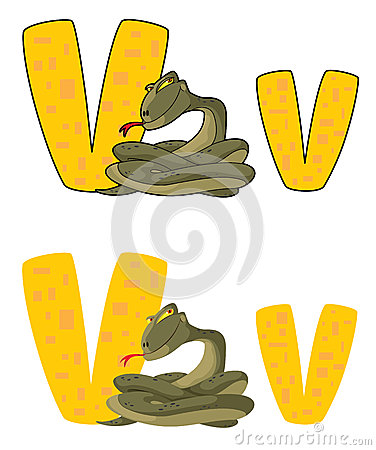 Huggorm för bokstav V