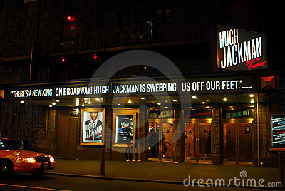 Hugh Jackman on Broadway Editorial Stock Photo