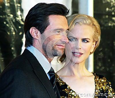 Hugh Jackman and Nicole Kidman Editorial Stock Photo