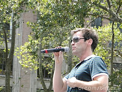 Hugh Panaro at Bryant Park Editorial Stock Photo