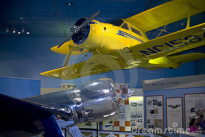 Hughes H-1 and Beech Model 17 Staggerwing aircraft Editorial Stock Photo