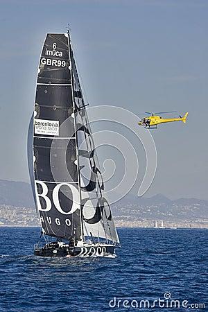 Hugo Boss boat Editorial Stock Image