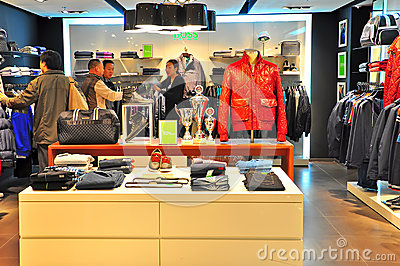 Hugo boss retail store, hong kong