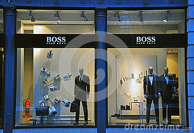 Hugo Boss store in Lisbon Editorial Photo
