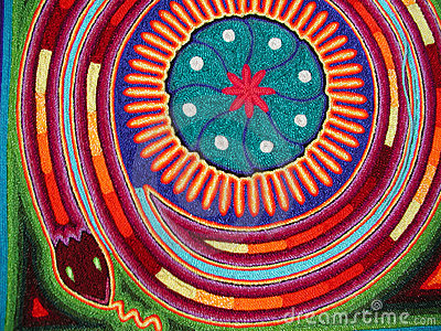 Huichol snake Stock Photo