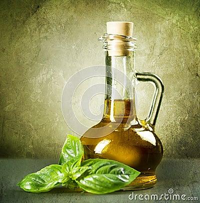 Huile et basilic d olive