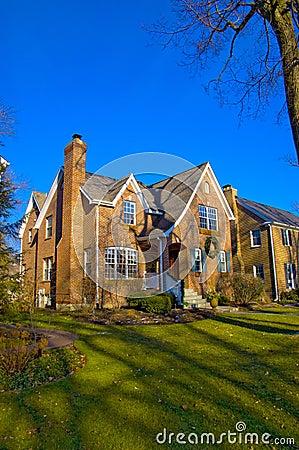 Huis in de voorsteden in Illinois