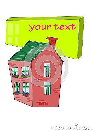 Huis met lijst voor uw tekst royalty vrije stock for Lijst inrichting huis