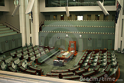 Huis van Afgevaardigden Canberra Australië Redactionele Foto