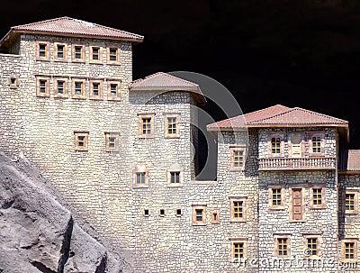 Huizen in de bergen