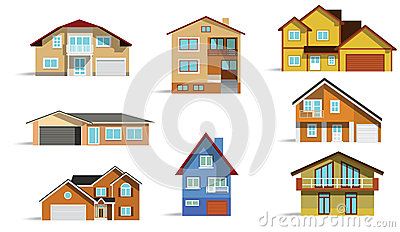 Huizen in de stad