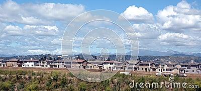 Huizen die worden gebouwd