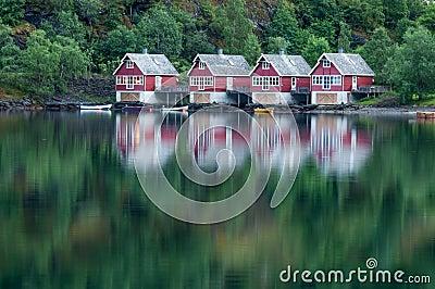 Huizen in Flåm