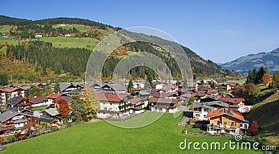 Huizen in Kirchberg in Tirol - Kitzbuhel Oostenrijk