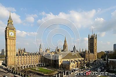 Huizen van het Paleis van het Parlement van Londen van Westminster