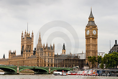 Huizen van het Parlement en de Big Ben