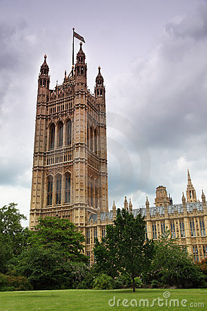 Huizen van het parlement of het Paleis van Westminster
