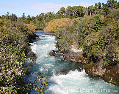 Huka Falls River, New Zealand