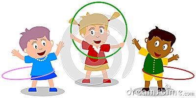 箍hula孩子使用
