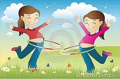 Hula hoop twins