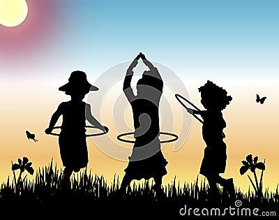 Hula Hoops at Sunset